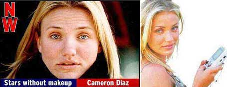 Cameron Diaz without makeup pic from Celebrities