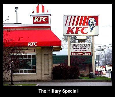 Politicized KFC: Hillary Special pic from Food, Politics, Real-life signs and labels