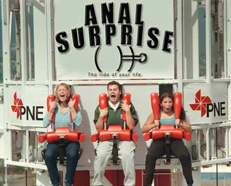 An anal rollercoaster pic from Weird