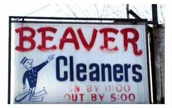 Clean your beaver here pic from Real-life signs and labels