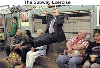 Subway exercise pic from Sports