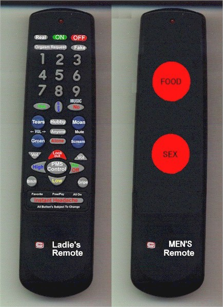 Men's and Women's Remote Controls pic from Relationships
