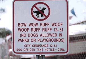 No dogs allowed pic from Animals, Real-life signs and labels