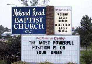 The most powerful position pic from Real-life signs and labels, Religion
