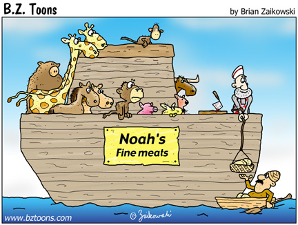 Noah's ark pic from Animals, Food, Brian Zaikowski
