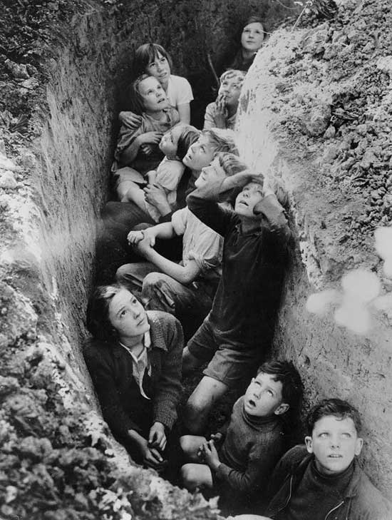 Waiting for the air-raid pic from Funky History, Kids